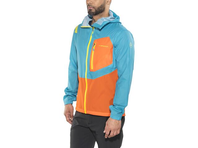 La Sportiva Hail Jacket Men Tropic Blue/Lava